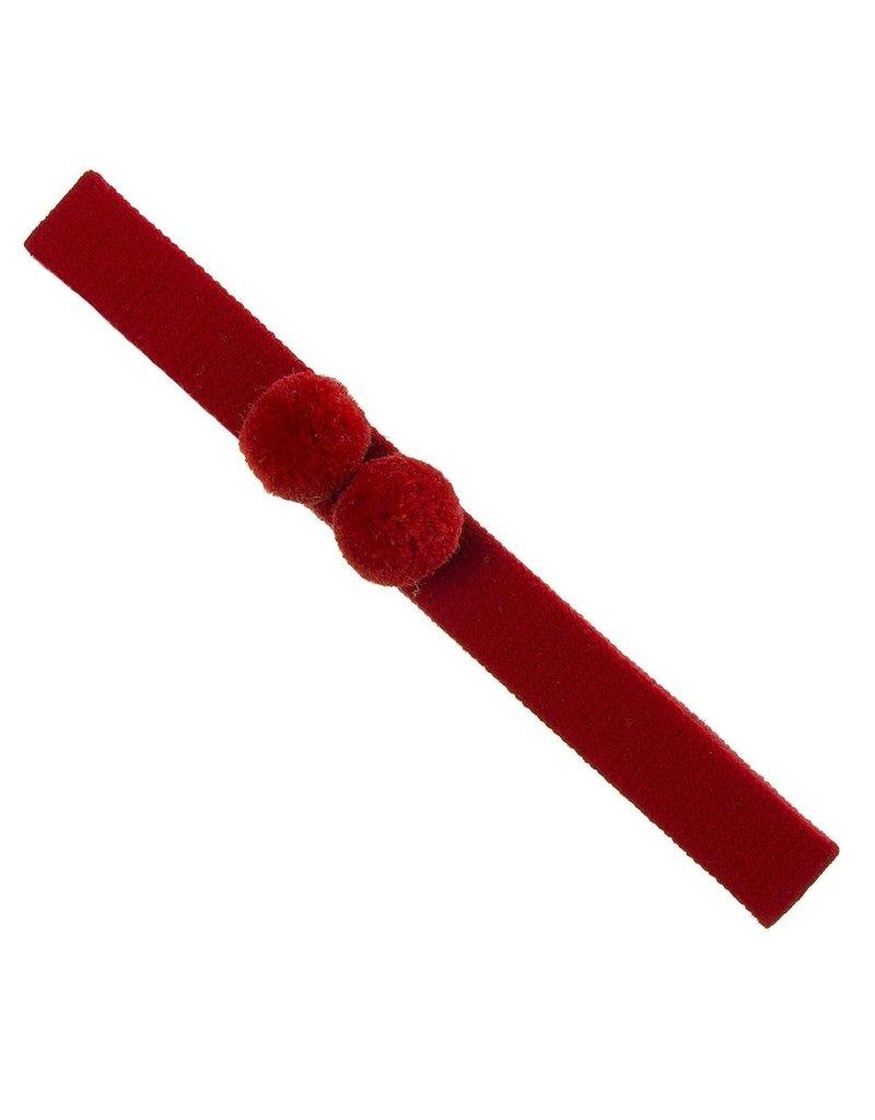 Siena Haarband 2 bolletjes rood