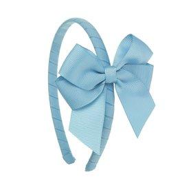 Siena Diadeem dubbele lange strik lichtblauw