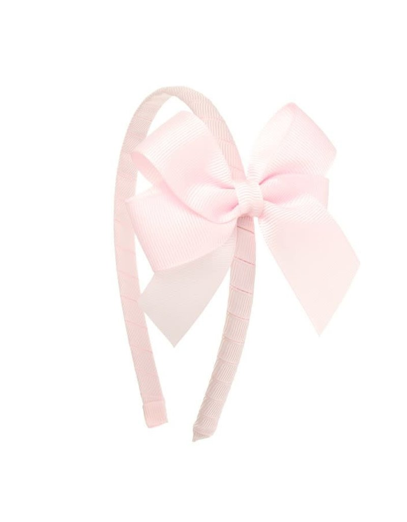 Siena Diadeem dubbele lange strik roze