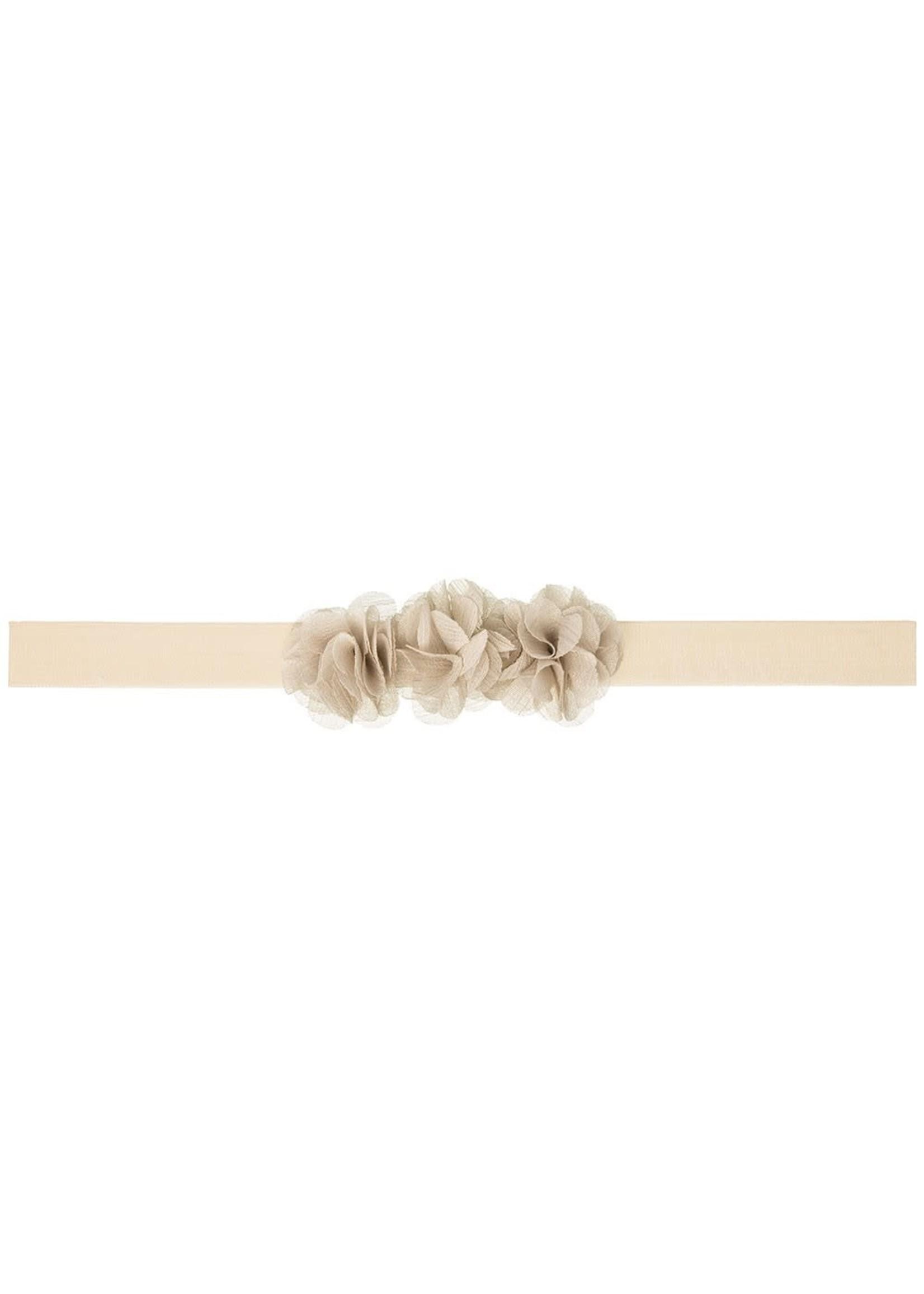Siena SIENA Haarband 3 bloemetjes beige