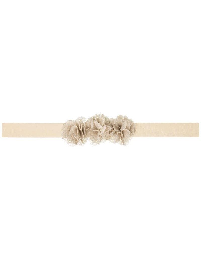 Siena Haarband 3 bloemetjes beige