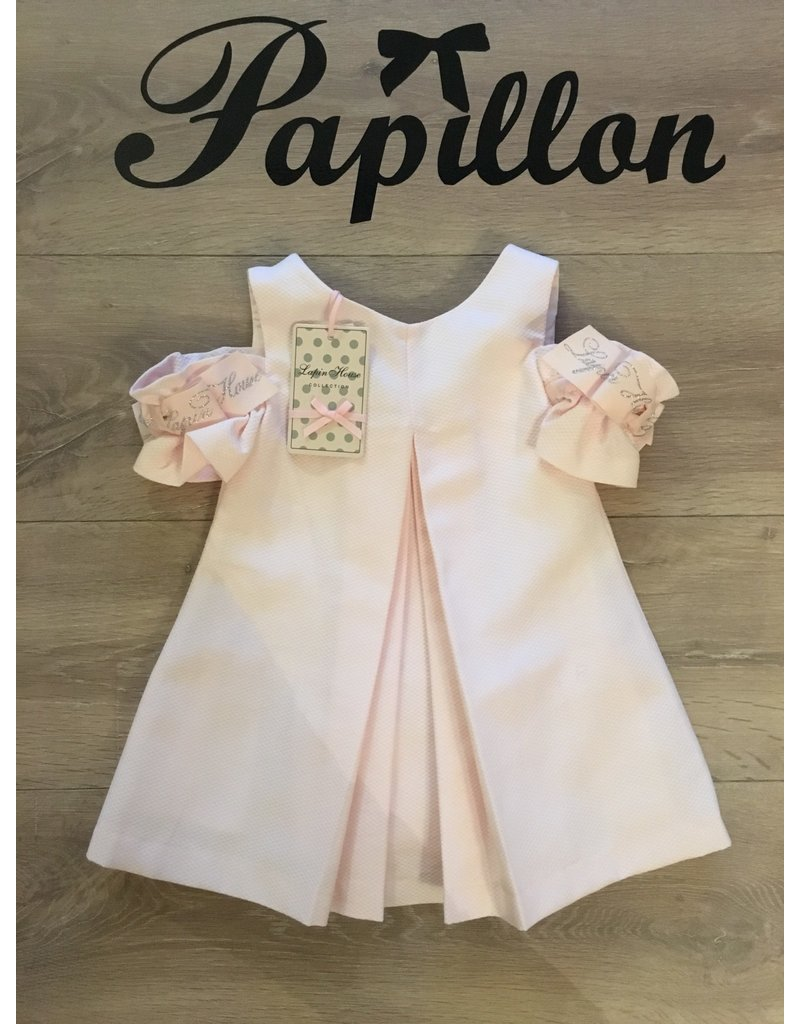 Lapin House Jurk roze offshoulder