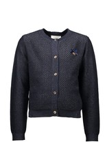 Le Chic Cardigan heart at back blue navy