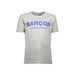 "Le Chic Garçon Tshirt ""Garçon"" warm grey melee"