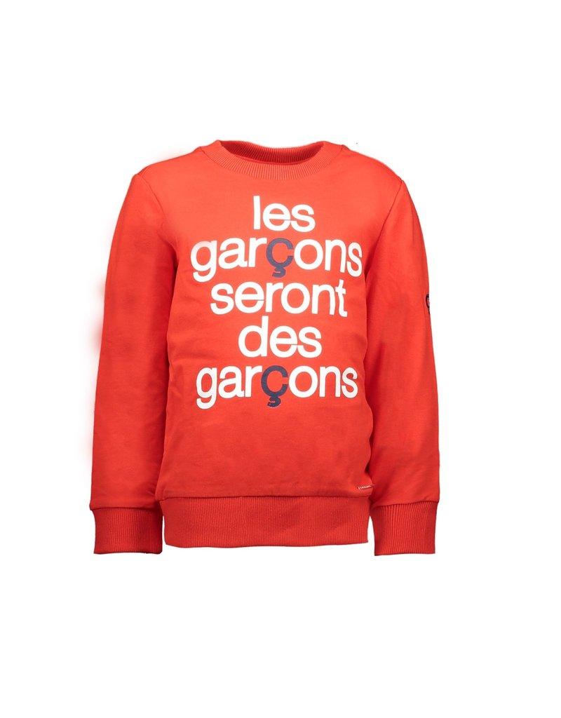 "Le Chic Garçon Sweater ""Les garçons..."" gilead red"