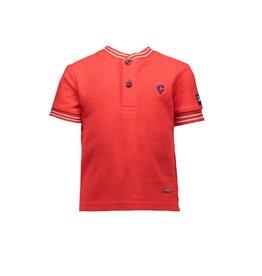 Le Chic Garçon Poloshirt mandarin collar gilead red