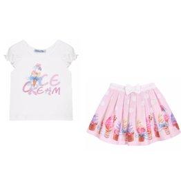 "Balloon Chic Top + Rokje ""Ice Cream"""