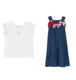 Balloon Chic 2 delige set Tshirt + Salopet Jeans