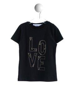 """T LOVE Tshirt """"Love"""" zwart/goud"""