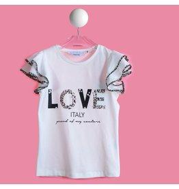 "T LOVE Tshirt ""Love Italy"" cream leopard"