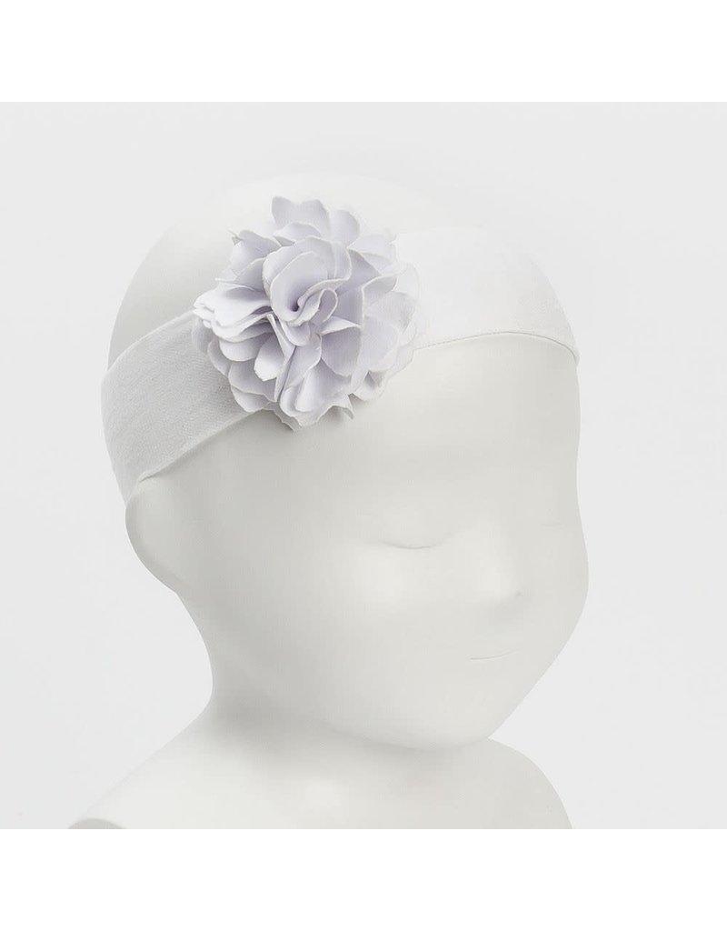 "Siena Haarband ""Flower"" lycra wit"