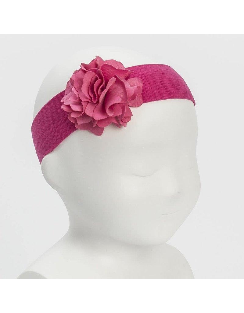 """Siena Haarband """"Flower"""" lycra framboos"""
