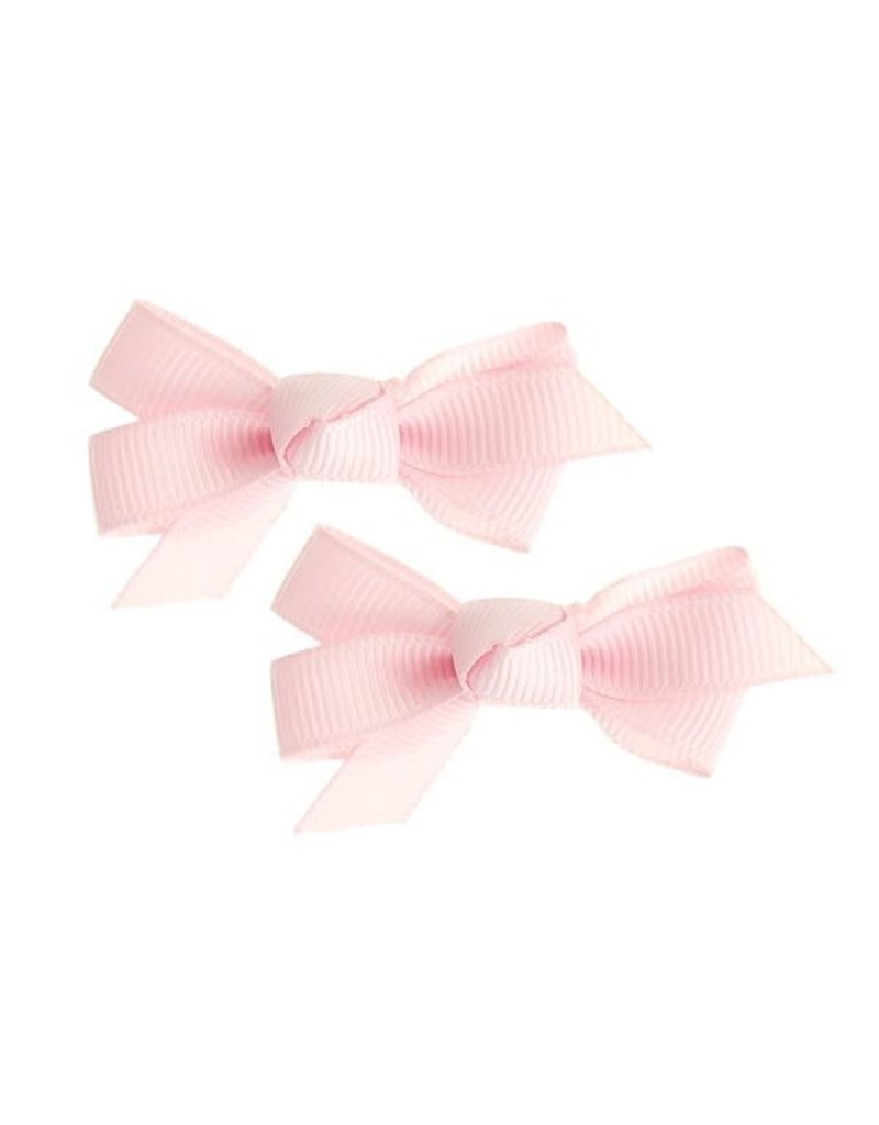 Siena Pack 2 clips ribbon roze