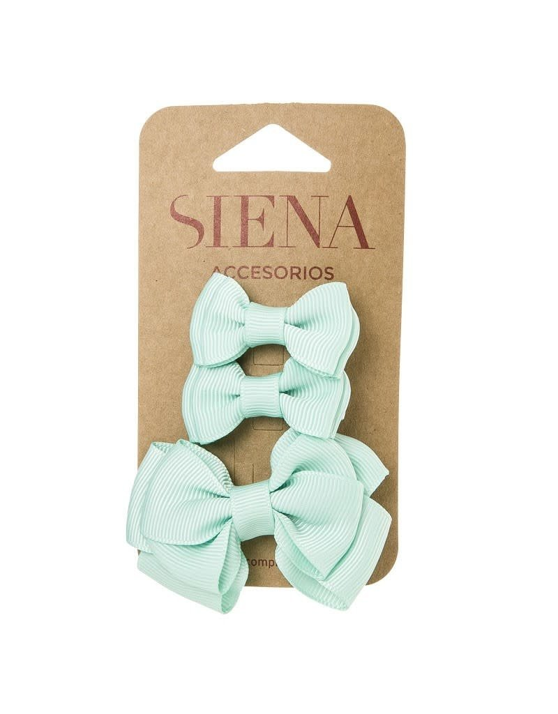 Siena Pack 3 clips groenblauw