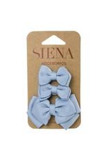 Siena Pack 3 clips lichtblauw