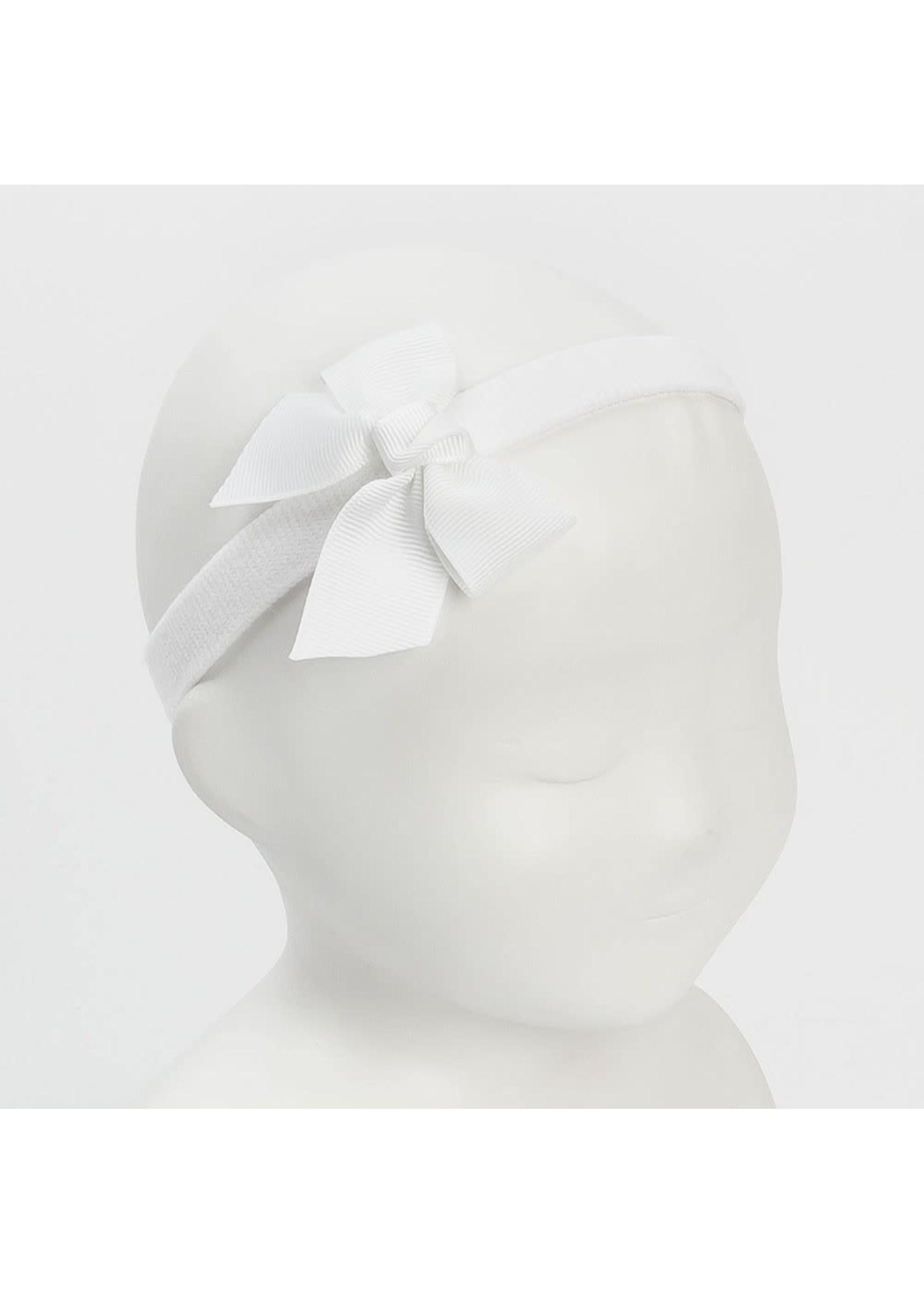 Siena SIENA Haarband strik wit