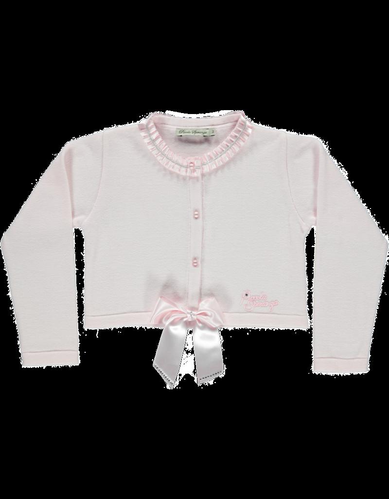 Piccola Speranza Cardigan roze strik