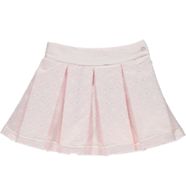 Piccola Speranza PICCOLA SPERANZA Rokje bloemenmotief plissé roze