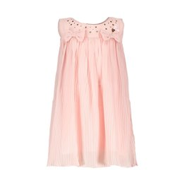 Le Chic Jurk pleats/voile bows pretty in pink
