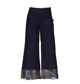 Le Chic Trouser wide leg lace blue navy