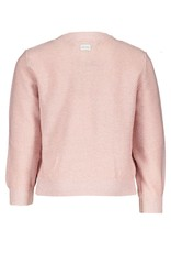 Le Chic Cardigan open knit front pretty in pink