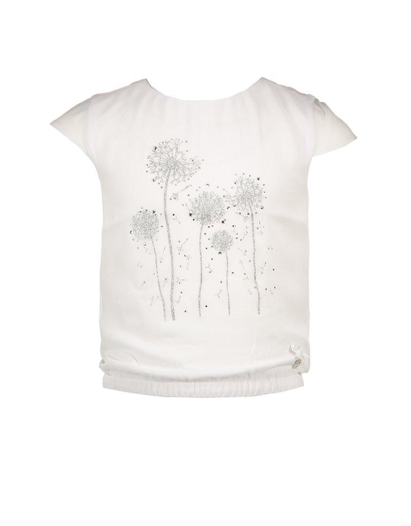 "Le Chic Top ""Dandelion Print"" white"