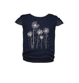 """Le Chic Top """"Dandelion Print"""" blue navy"""