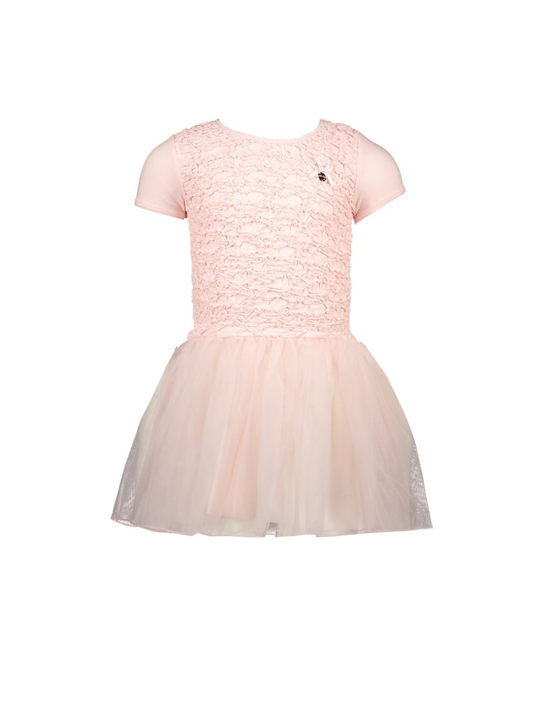 Le Chic LE CHIC Jurk francy smocked body pretty in pink