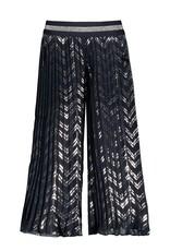 Le Chic Broek printed plissée blue navy