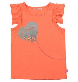"Billieblush Tshirt/top ""Sparkle Heart"" perzik"