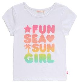 "Billieblush Tshirt ""Fun Sea Sun Girl"" wit"