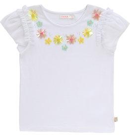 "Billieblush Tshirt ""Flowers"" wit"