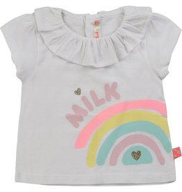 """Billieblush Tshirt kraagje """"Milk"""" wit"""