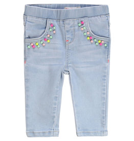 "Billieblush Jeans denim light blue ""Pearls"""