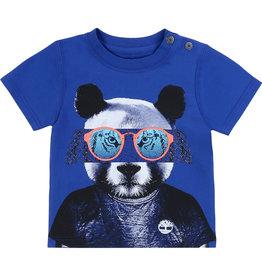 """Timberland Tshirt """"Panda"""" blauw"""