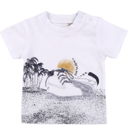 """Timberland Tshirt """"Shoes On The Beach"""" wit"""