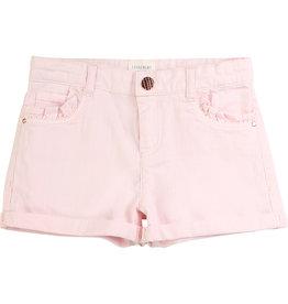 Carrément Beau Shortje jeans roze koper knoop