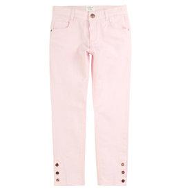 Carrément Beau Broek jeans roze koper knoopjes