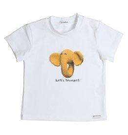 "Gymp Tshirt ""Elephant"" wit"