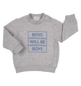 "Gymp Sweater ""Boys Will Be Boys"" grijs"