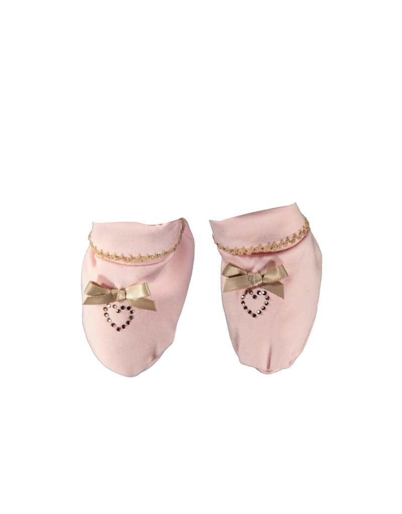 Le Chic Schoentjes satin bow & heart pretty in pink