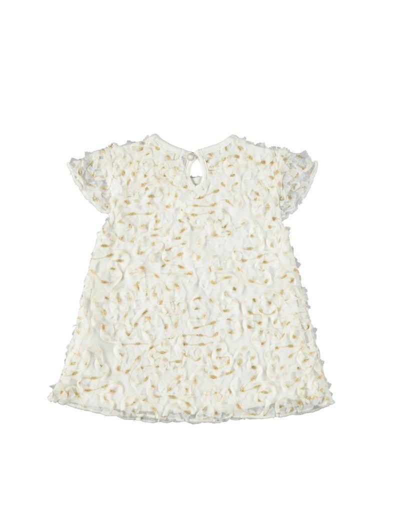 Le Chic Jurkje lacey flowers white