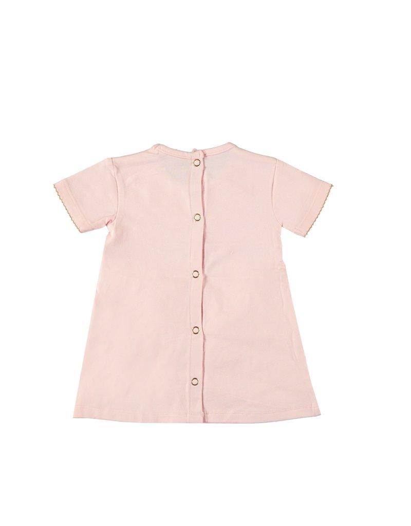 Le Chic Jurkje diagonal fancy ruffles pretty in pink