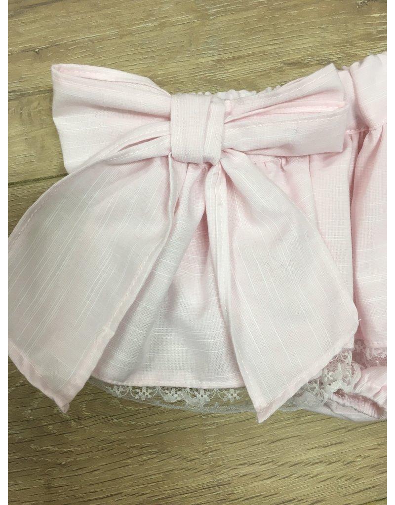 Papillon Set Blouse+Bloomer roze