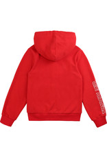 Timberland Sweatervest kap rood tekst mouw