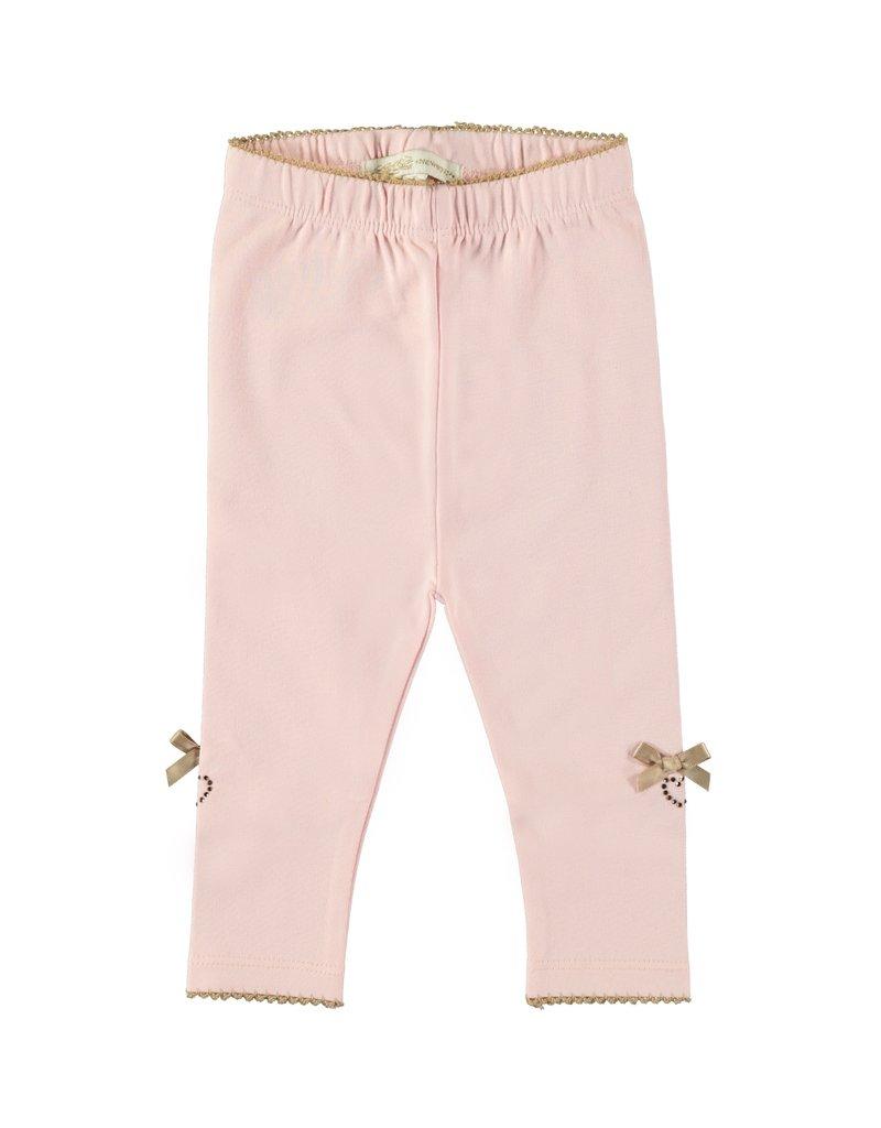 Le Chic Legging satin bows & hearts pretty in pink