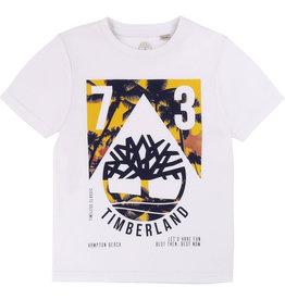"""Timberland Tshirt """"Palmtree"""" wit"""