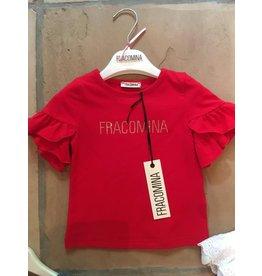 """Fracomina Tshirt """"Fracomina"""" rood wijde mouw"""