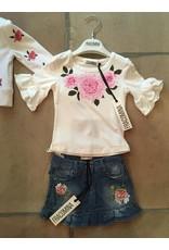 "Fracomina Tshirt""Roses"" klokmouw"