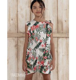 """Fracomina Jumpsuit """"Flower&Leaves"""" kort model"""